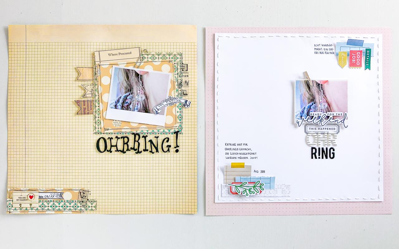 Scrapbooking Layout Redo - Überarbeitung einer alten Seite - Janna Werner