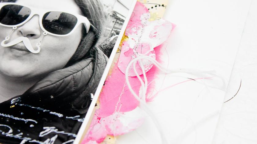 Mixed Media Scrapbooking Layout selber machen - Janna Werner